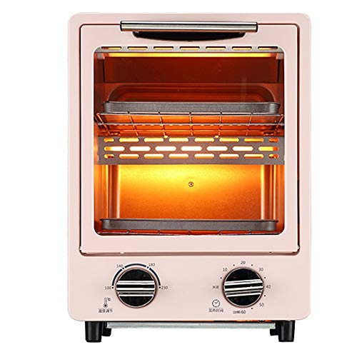 Vertical Mini Retro Electric Oven Household Multifunctional 12L Oven, 100-230°C Temperature Adjustment, Two-Layer Baking Position Saves More Space,Can Help You Make Delicious Food
