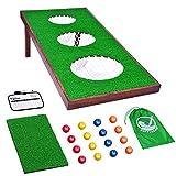 GoSports BattleChip PRO Golf Game - Includes 4' x 2' Target, 16 Foam Balls, Hitting Mat, and Scorecard, Green