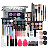 37 piezas Kits de Maquillaje, Set de Cosméticos Todo en Uno, Set de Regalo de Maquillaje Kit de Inicio Completo con Sombras de Ojos, lápiz Labial, Kit de Cosméticos para Niñas Mujeres