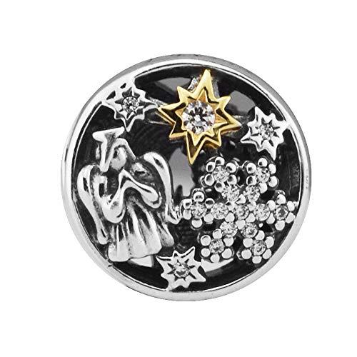 PANDOCCI 2017 regalo di Natale celestiale meraviglie perline di fascino fai da te per originale pandora bracciali in argento 925 gioielli moda di fascino