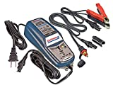 TecMate OptiMate 4 CAN-BUS - Cargador de batería para BMW, batería avanzada de 12 V, con conectores SAE