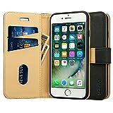 Labato iphone8 plusケース iphone7 plusケース 手帳型 人気 カード収納 財布型 スタンド機能 耐衝撃 耐摩擦 TPU シリコン 高級PUレザー アイフォン8プラス ケース 100 手作り アイフォン7プラス カバー 100 手作り マグネット式 ブランド スマホケース メーカー直営 (lbt-I7L-18D10, ブラック)