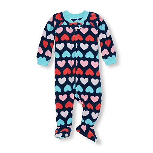 The Children's Place Baby Girls' Long Sleeve One-Piece Pajamas, ALLUREPINK 85248 (Pack of 2), 9-12MOS