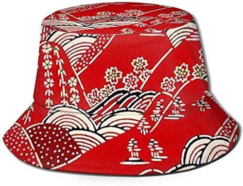 Sombrero de Cubo de Viaje con Estampado de flamencos Rosados Unisex, Gorra de Pescador de Verano, Sombrero para el Sol, Arte japons