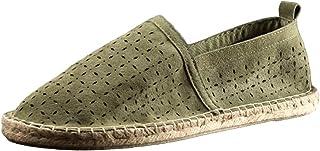 MNSSRN Chaussures En Cuir Respirantes Pour Hommes, Chaussures Creuses D'été Chaussures De Pêche Tissés De La Paille Sandal...