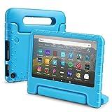 TNP Funda para Tableta Kindle Fire 7 (7a generación 2017), Funda Protectora Antideslizante, Anti-Impacto y caída para niños con Mango Convertible y Cubierta, Color Azul