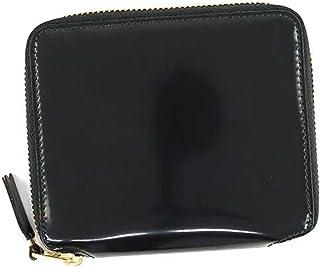 【コムデギャルソン】 COMME des GARCONS SA 2100MI Super Fluo Zip Wallet ジップ カーフレザー ウォレット ブラック ゴールド 二つ折り財布 【並行輸入品】