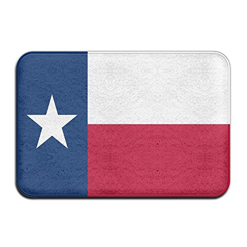 Shenghong Lin Flag of Texas Welcome Mat Rug Front Door Bathroom Indoor Outdoors Floor Mat Gate Pad Cover Doormat Bath Mat Entrance Outside Doors Entry Carpet