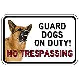 STOPSignsAndMore - No Trespassing Guard Dog Photo Signs - 18x12 - Reflective | Rust Free Aluminum