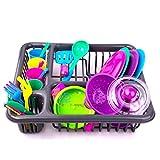 YUSHU Juego de mini cocinero de cocina apto para niños de 1 2 y 3 años de edad, utensilios de cocina de juguete de pretender, juego de alimentos y utensilios de cocina y accesorios para niños