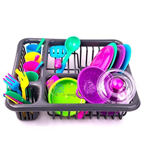 siwetg 28pc Kids Bestek Rol Spelen Speelgoed Set Keuken Gebruiksvoorwerp Accessoires Potten Pans