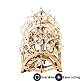 ROKR 3D Wooden Model Kits Gear Clock - Laser Cut Pendulum Clock Model Building Kits to Build - Mechanical Wooden Gear Model - Christmas Birthday Gifts For Teens and Adults