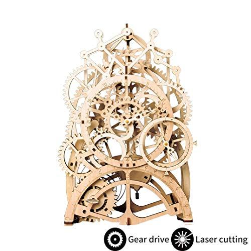 ROKR Pendulum Clock kits-3D Rompecabezas de Madera Kit de Construcción Sin Pegamento para Niños y Adultos