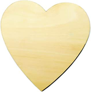4 inch Wood Hearts, Natural Unfinished Wood Heart Cutout Shape,4 inch,(10 Pieces)