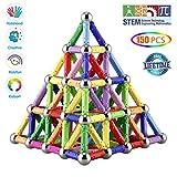 Veatree Blocs de Construction Magnétique 3D Jouet de Puzzle Jeux de Construction avec Bâtons Magnétique Colorés pour...