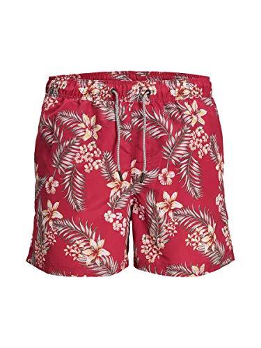 JACK & JONES JJIARUBA JJSWIMSHORTS AKM Tropic STS Costume a Pantaloncino, Peperoncino, M Uomo