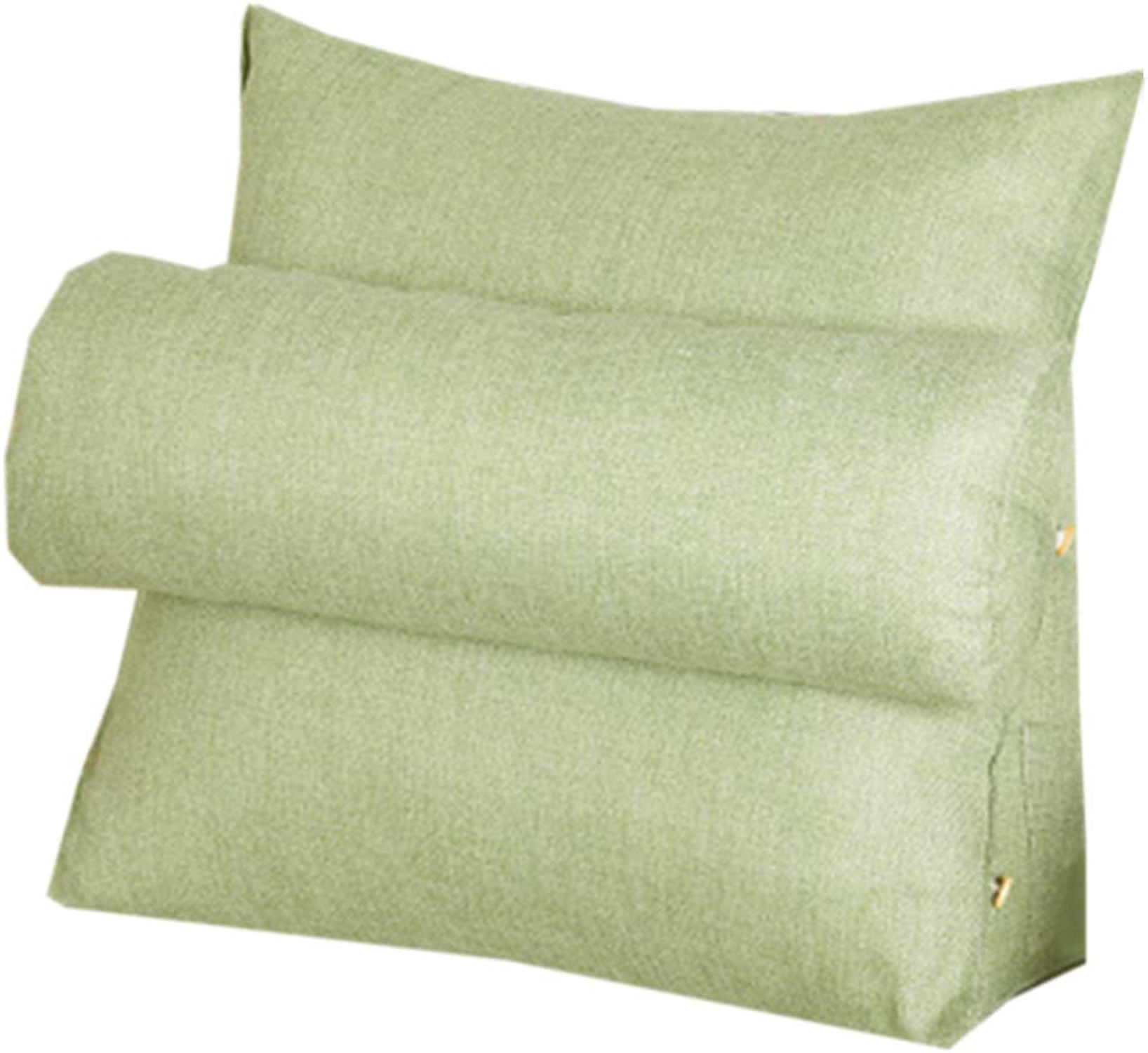 JYW-kaodian Coussin Triangle de Chevet Chambre Double Canapé Sac Souple Amovible Disponible en 6 Couleurs, 3 Tailles,vert,20  50  60cm