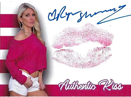 Ryan Shamrock Signed w/Lip Print Kiss Card WWE Diva Autograph Benchwarmer Model - Autographed Wrestling Cards