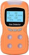 QXQX (100-240v Au Plug) Co / H2s / O2 / Ex 4 In 1 Voice Multi-gas Safety Alarm Detector Geel