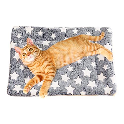Manta para perro súper suave y esponjosa sherpa – Premium duradera gatito suave gris manta para mascotas para cachorros y gatos