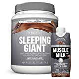 Cytosport Sleeping Giant Nighttime Protein Supplement Mix with Melatonin and Tryptophan, Hot Chocolate with Protein Shake, Knockout Chocolate