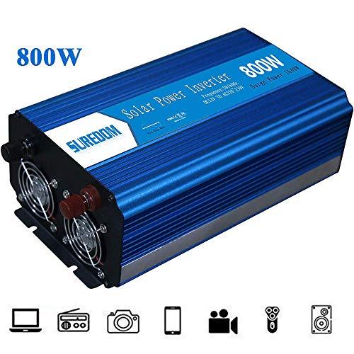 Sinusgolf zuivere omvormer Solar DC 12 V naar AC 110 V / 220 V converter – stopcontacten met 800 W energie voor auto, omvormer wisselstroom Dual noodgevallen systeem Solar Car