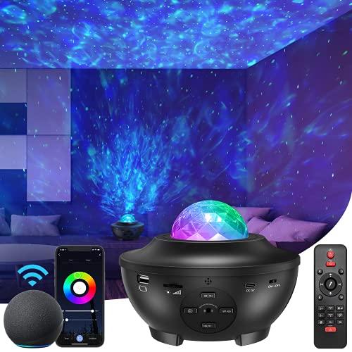 Star Projector Bluetooth Music Speaker, Night Light Galaxy Projector for...