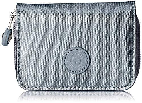 Kipling Tops, Portafoglio Donna, Grigio (Steel Gr Metal), 7.5x10x2.5 cm