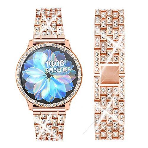 DEALELE Correa Compatible con Samsung Galaxy Watch Active 2 40mm / Active 2 44mm, Pulsera de Metal...