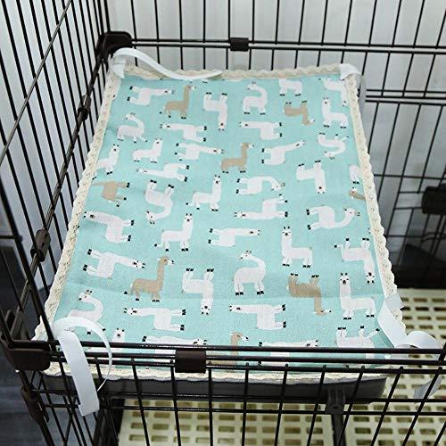xmwm Sommer-Vor-Und Nachteile Von Dual-Use-Pad Matte Haustier Matte Hund Katze Matte Katze KäFig KatzenkäFig Mat Mat Plattform,Blau Alpaka,35 * 50