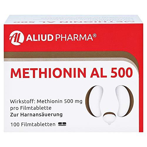 Methionin AL 500 Filmtabletten zur Harnansäuerung, 100 St. Tabletten