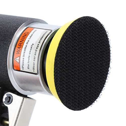 Pulidora de baja tasa de vibración 9,8x16,5 cm Pulidora neumática Máquina lijadora Lijadora de aire para áreas de enfoque de lijado puntual(2-3 inch eccentric black +10pcs sandpaper)