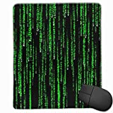 Gaming Mouse Mat, Green Matrix Mouse Mat Personalisierte Anpassung Gaming und Office Mouse Mat Genähte Kante Office Dicker Mauspad