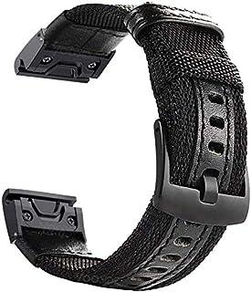 YOOSIDE Watch Band for Fenix 5X/Fenix 6X, 26mm QuickFit NOTA Woven Durable Nylon Military Wristband Strap for Garmin Fenix...
