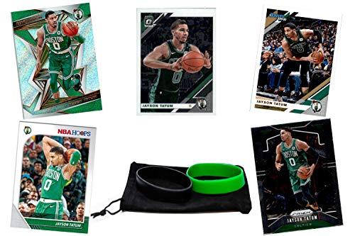 Jayson Tatum Basketball Cards Assorted (5) Bundle - Boston Celtics Trading Card Gift Pack
