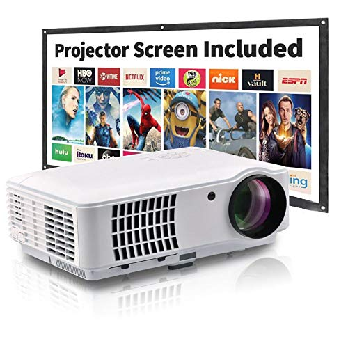 Full HD-beamer, mini LCD LED-projector, 2500 lumen 1080p video 50-200 inch, beste hoofdprojector