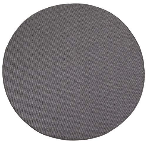 havatex Sisal Teppich Trumpf rund - hypoallergene Naturfaser | schadstoffgeprüft pflegeleicht schmutzabweisend strapazierfähig | ideal für Wohnzimmer Schlafzimmer, Farbe:Grau, Größe:100 cm rund