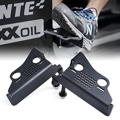 Xprite Metal Steel Front Door Foot Pegs Rest Pedals for 2007-2018 Jeep Wrangler JK JKU Accessories - 1 Pair