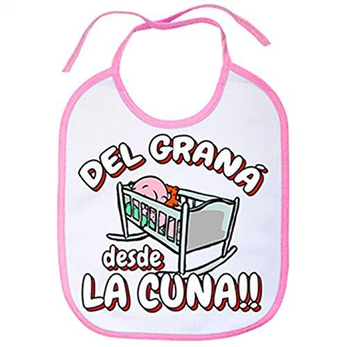Babero del Graná desde la cuna Granada fútbol - Rosa