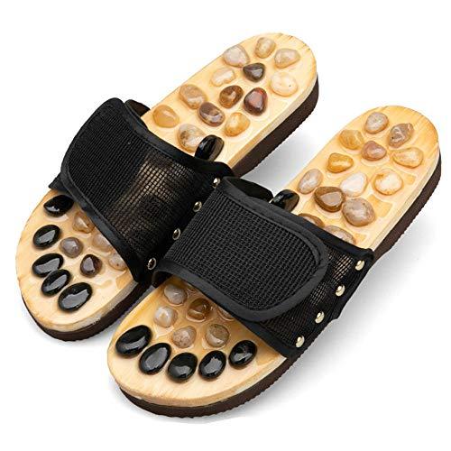 XNSY Acupressure Home anti-skid indoor foot massage slippers-black_39-40