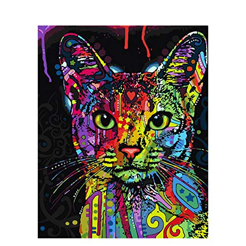 DIY Digital Painting Colorful Animal Oil Painting Hand-Painted Home Decoration Gift Canvas Painting 50x65cm