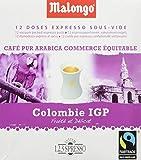 Malongo - Colombia Supremo - Café Arábica en Monodosis al Vacio - 12 Monodosis - 78 g