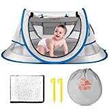 FITNATE Baby Beach Tent, Portable Baby Travel Tent UPF 50+ with Moisture-Proof Pad