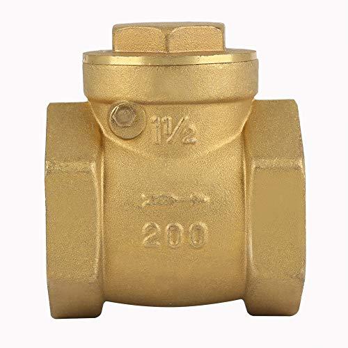 Valvola di non ritorno, filettatura femmina DN32 Valvola di ritegno in ottone per acqua, vapore, oli, acido nitrico, urea e altro Principalmente nelle condotte