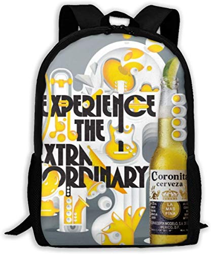 PerterOne Corona The Dots Oxford Unisex Adult Backpack Lightweight Travel Day-Packs Laptop Backpack No Side Pocket