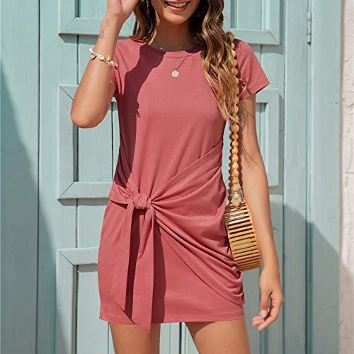 Pistaz - Camiseta sin mangas para mujer, estilo casual, sin mangas, sin mangas, camiseta corta, mini vestido para mujer