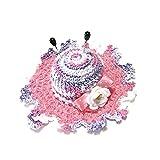 Alfiletero rosa y lila en forma de sombrero de ganchillo - Tamaño: ø 10.5 cm - Handmade - ITALY