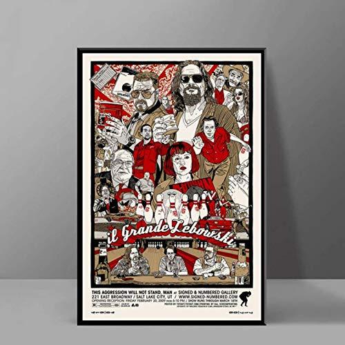 tgbhujk Film Classico Film Divertente Il Grande Lebowski Poster e Stampe Pittura Vintage Arte Immagini su Tela per Soggiorno Home Decor 42 * 60cm Senza Cornice