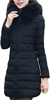Womens Hooded Thickened Mid Long Down Jacket Down Parka Puffer Coat
