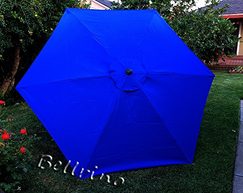 BELLRINO DECOR Replacement Royal Blue Strong & Thick Umbrella Canopy for 9ft 6 Ribs (Canopy Only)